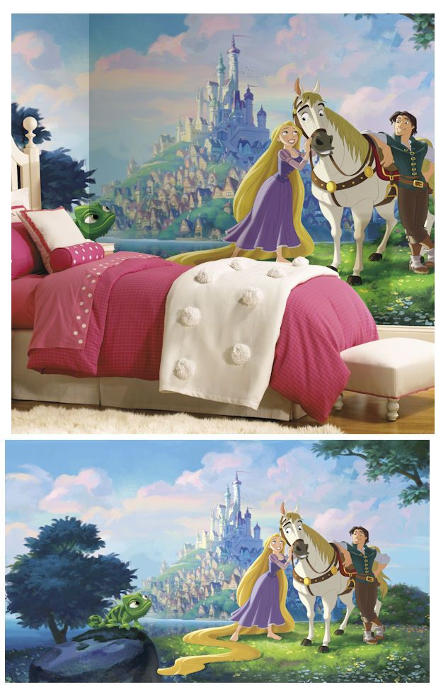 Disney Tangled Rapunzel XL Wall Mural Wall Sticker Outlet NEW To
