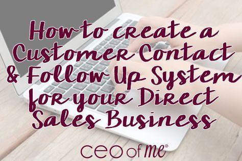 Photo of So erstellen Sie ein Kundenkontakt- und Follow-up-System für Ihren Direct Sales Party Plan oder Ihr Network Marketing-Geschäft