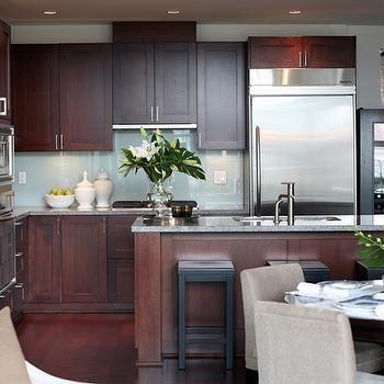 Cherry Kitchen Cabinets Contemporary Kitchen Kerrisdale Design Amusing Cherry Kitchen Design Design Decoration