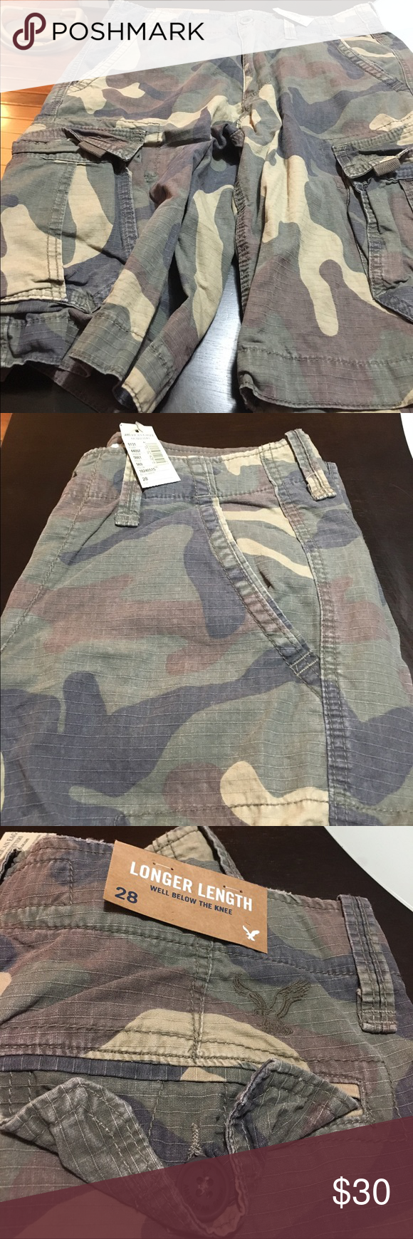 Men Shorts American Eagle Longer Length Shorts American Eagle Outfitters Shorts