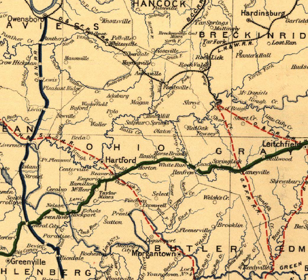 Historical maps of Ohio County, Kentucky. | Ohio map ...