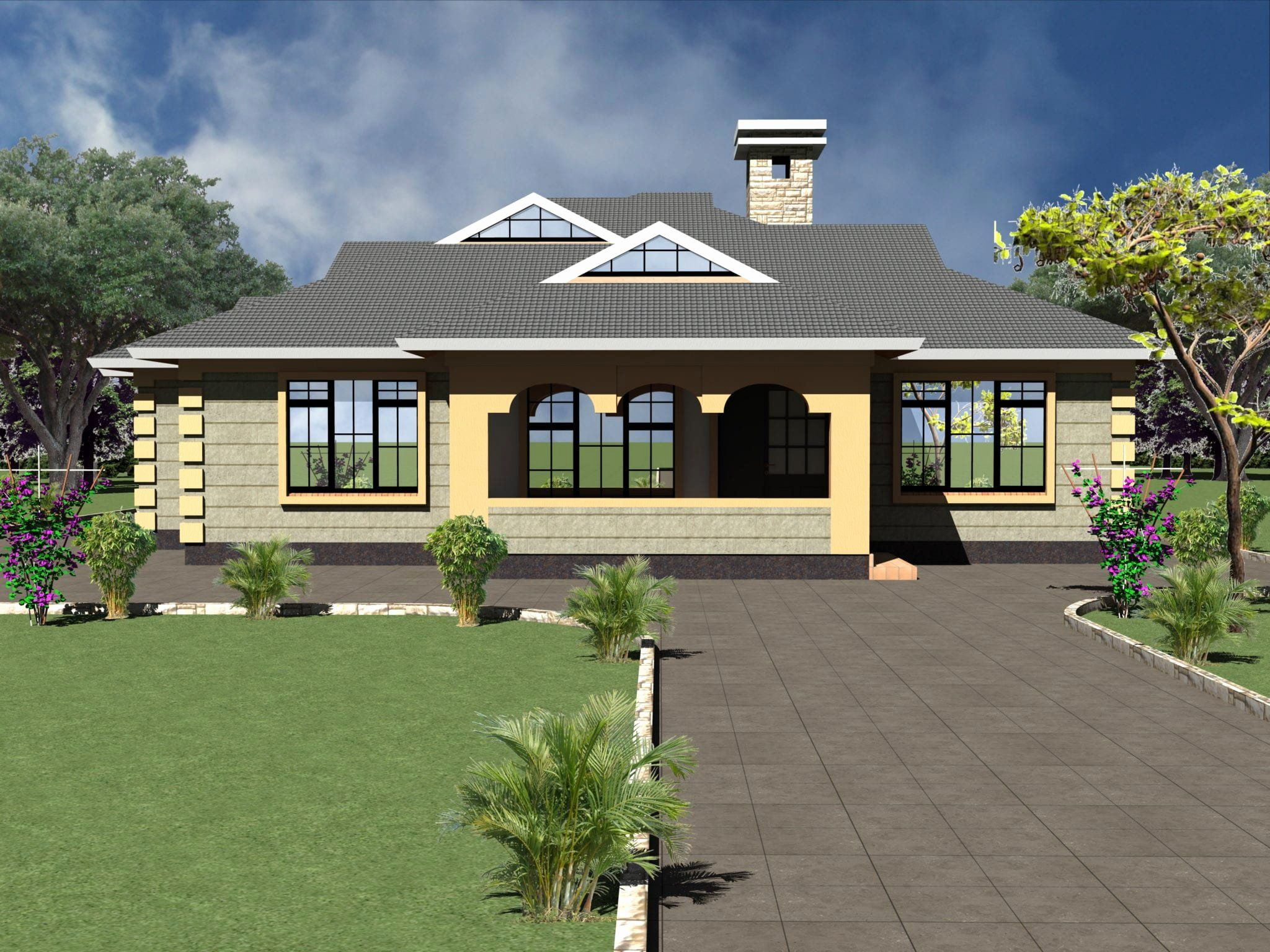4 Bed House Plans Lovely Four Bedroom Bungalow House Plans In Kenya Bungalow House Plans Country Cottage House Plans Beach Style House Plans