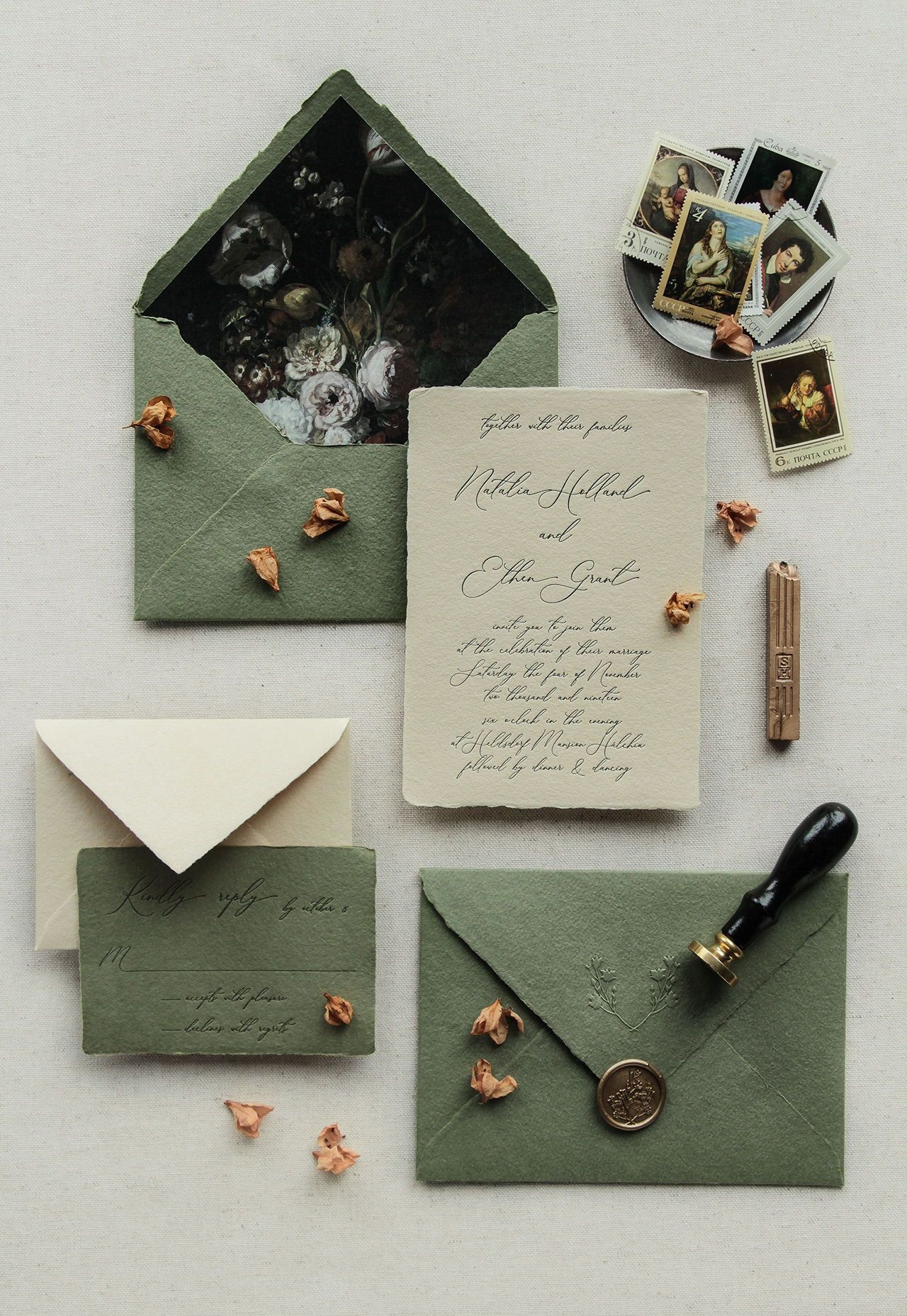 Winter Wedding Invitations Perfect for Your Cold-W