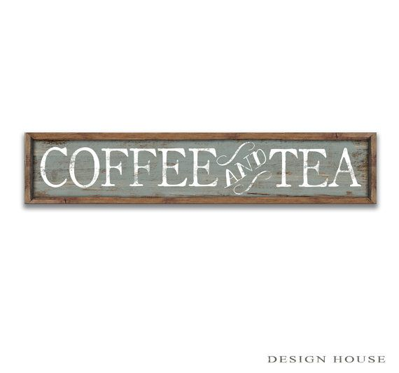 Coffee Signs Wooden Coffee Signs Tea Sign By DesignHouseDecor