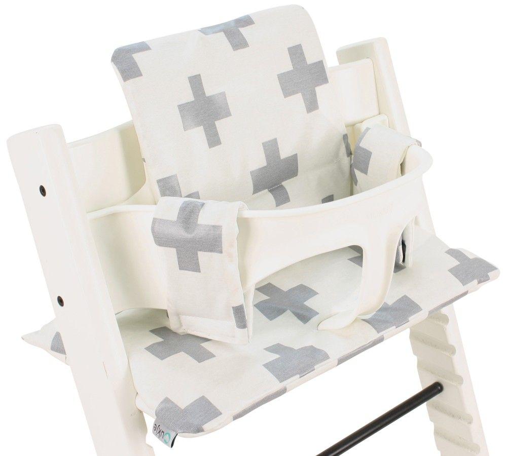 kussen tripp trapp stoel wit met grijze plusjes neem voor meer tripp trapp kussens een kijkje. Black Bedroom Furniture Sets. Home Design Ideas