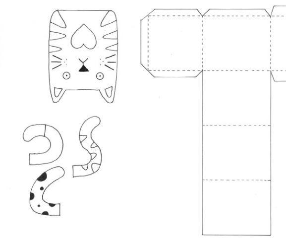 Cat Motifs  Gift Box Templates Digital Pinterest Gift box - gift box templates free download