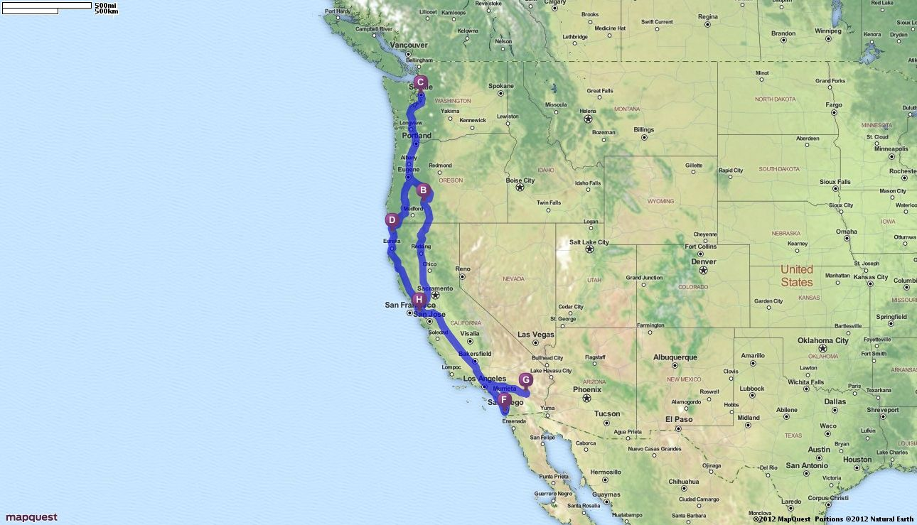 Driving Directions from San Francisco California to San Francisco
