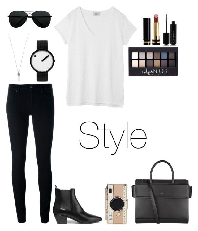 """""""Style"""" by taneyiah on Polyvore featuring Levi's, Yves Saint Laurent, Hush, Givenchy, Kate Spade, Marc Jacobs, Rosendahl, Maybelline and Gucci"""