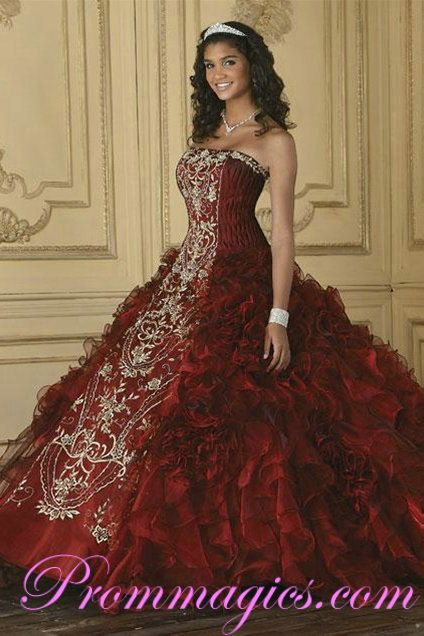 Crimson Wine colored Dress   Royal Ruffles   Pinterest   Dresses ...