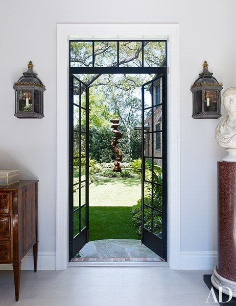 Bruce Budd Redecorates Houston Mansion French Doors French