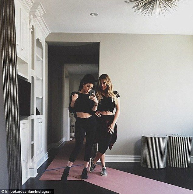 Heavy lifting:The daughter of Caityn Jenner, 65, kept it casual because it was the same d...