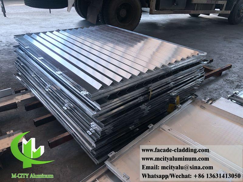 Bending Aluminum Sheet Metal Panels Aluminum Louver Shutter Aluminum Sheet Metal Aluminium Cladding Cladding Panels