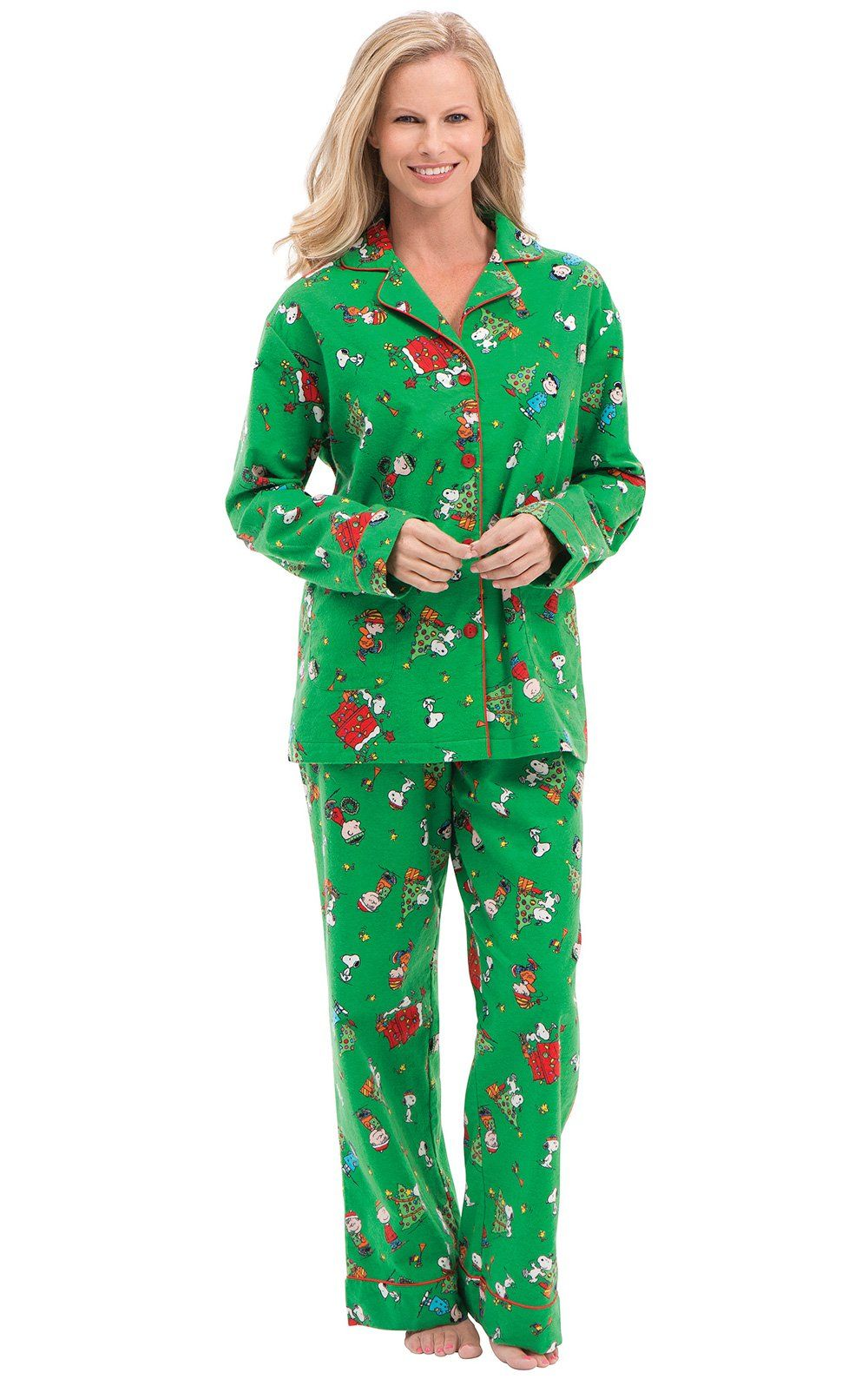 b6d1682d0812 Charlie Brown Christmas Matching Family Pajamas