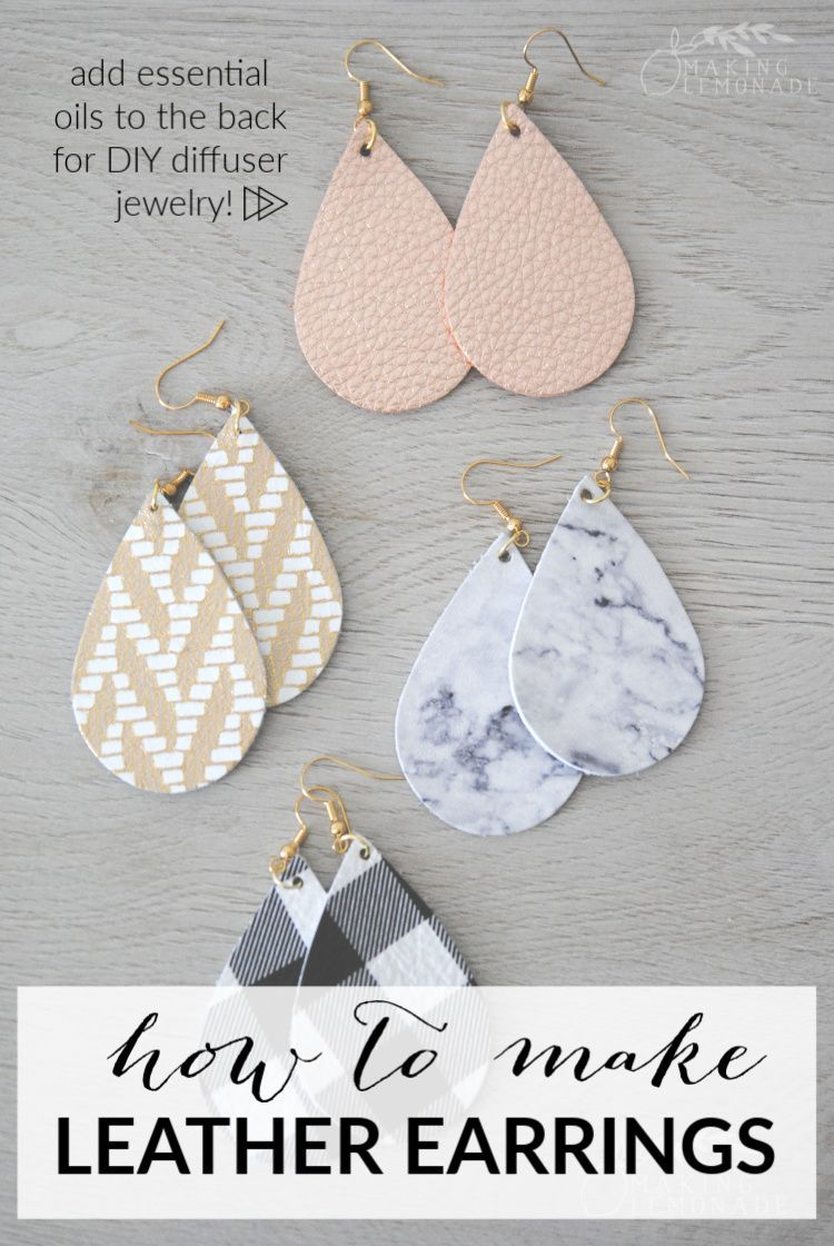 Photo of DIY Leather Diffuser Earrings