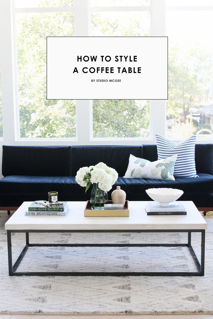 How to Style a Coffee Table Studio mcgee Living room fireplace