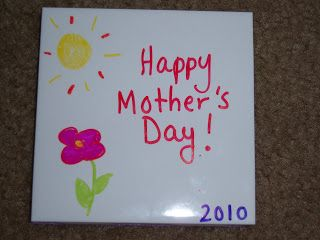 Mother S Day Coasters I Had My Students Make Coasters For Their Mom Or Grandma Using Bathroom Tile Mother S Day Projects Mother S Day Activities Mothers Day