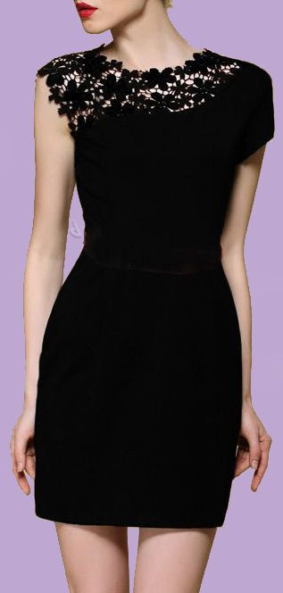 Lace shoulder dress // stunning design detail