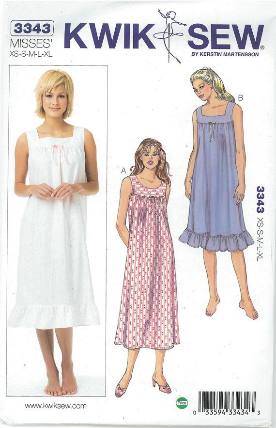 Sewing Pattern OUT OF PRINT Nightgown by DesignerAlleyFabrics ...