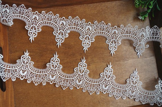 Guipure//Venise Lace White or Ivory Trim 4 designs Bridal Craft
