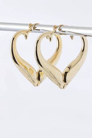 Gold Heart Hoop Earrings    $8.00    http://charmingdesignsbymarcia.myshopify.com/collections/earring/products/gold-heart-hoop-earrings#