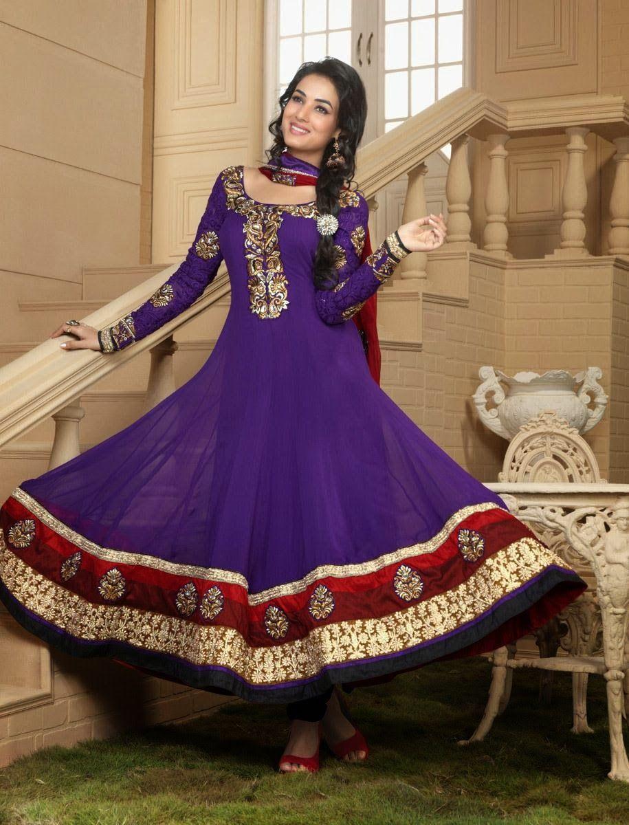 Purple color salwar kameez with golden work. | Salwar Kameez | Pinterest
