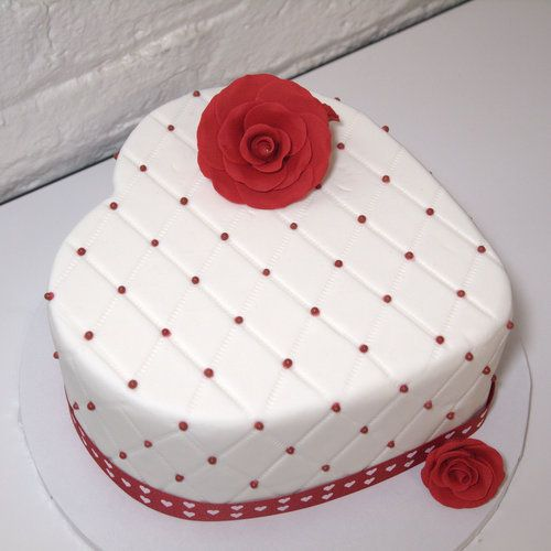 Birthday Cake Ideas Heart : pancake-heart-shaped-flowers-cake-for-valentine-excellent ...