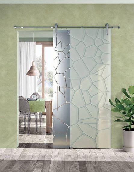 Scrigno soluzione vetro esterno muro sistema con barra for Kenzia esterno