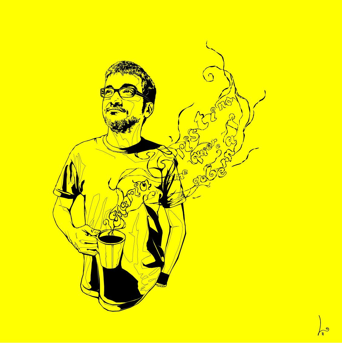 """JOSÉ. """"María Cristina me quiere gobernar. Digital Illustration"""