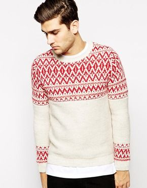 8d2cb0212a96 United Colors Of Benetton Jumper With Jacquard Yoke