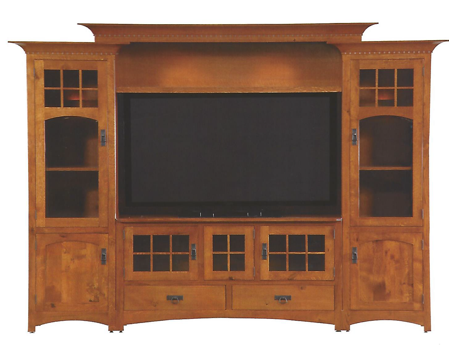 Wood Entertainment Wall Units Custom Made Winchester Bridge Wall Unit Entertainment Center In