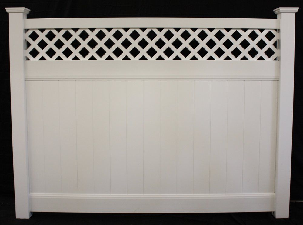 Privacy Vinyl Lattice Top Vinyl Fence Panel Buyvinylfence Com Vinyl Fence Vinyl Fence Panels Fence Panels