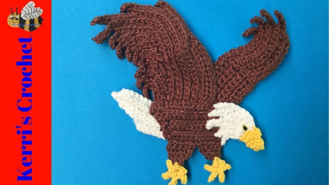 Crochet Bald Eagle Tutorial Crochet Bird Appliques Motifs