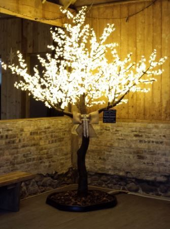 Our Cherry Blossom Led Tree At The Byre At Inchyra In June 2016 Wishing Tree Wedding Wedding Place Settings Wedding Archway