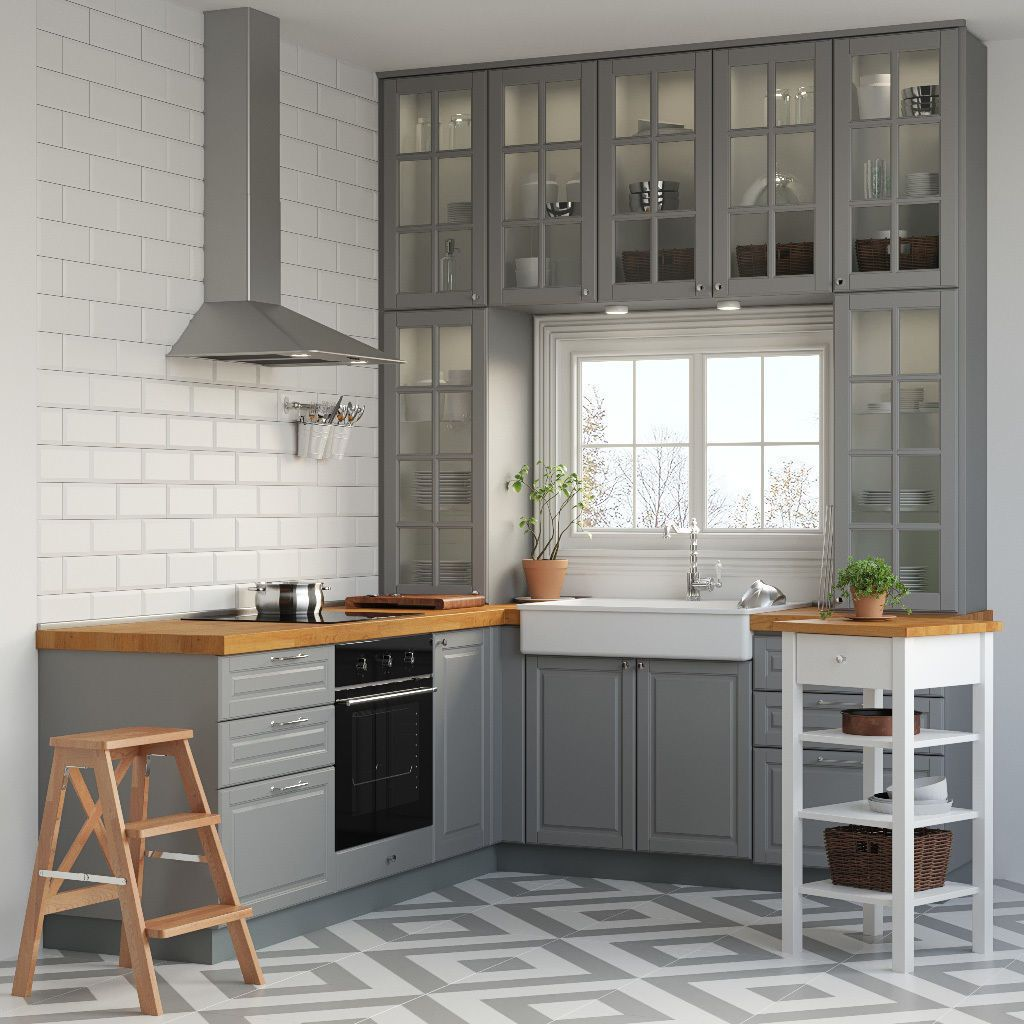 Kitchen IKEA METOD | 3D model in 2020 | Kitchen design ...