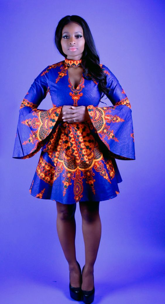 Trendy Short Ankara Flare Gowns in 2018 | Something different in ...