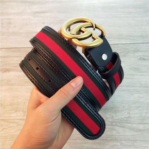 993fd0f00df 2018-Gold-Buckle-GUCCI-Men-Women-039-s-Classic-Leather-Vintage-Belt-110CM-03