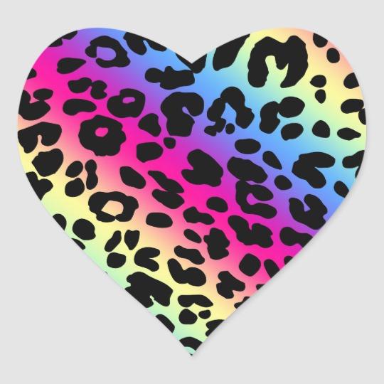 Neon Rainbow Leopard Pattern Print Classic Round Sticker Zazzle Com In 2020 Leopard Print Wallpaper Print Patterns Neon Rainbow