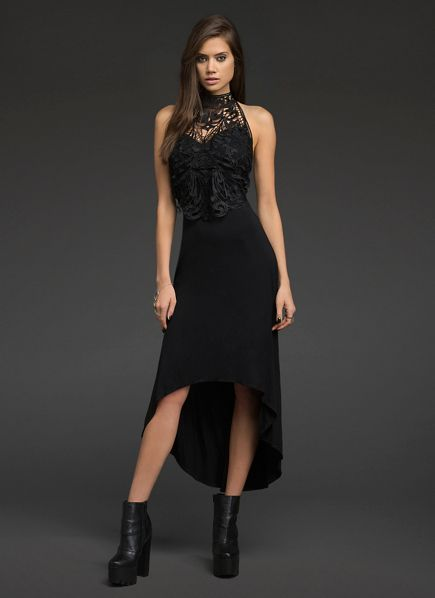 Crochet Lace Hi-Lo Dress | All Dresses