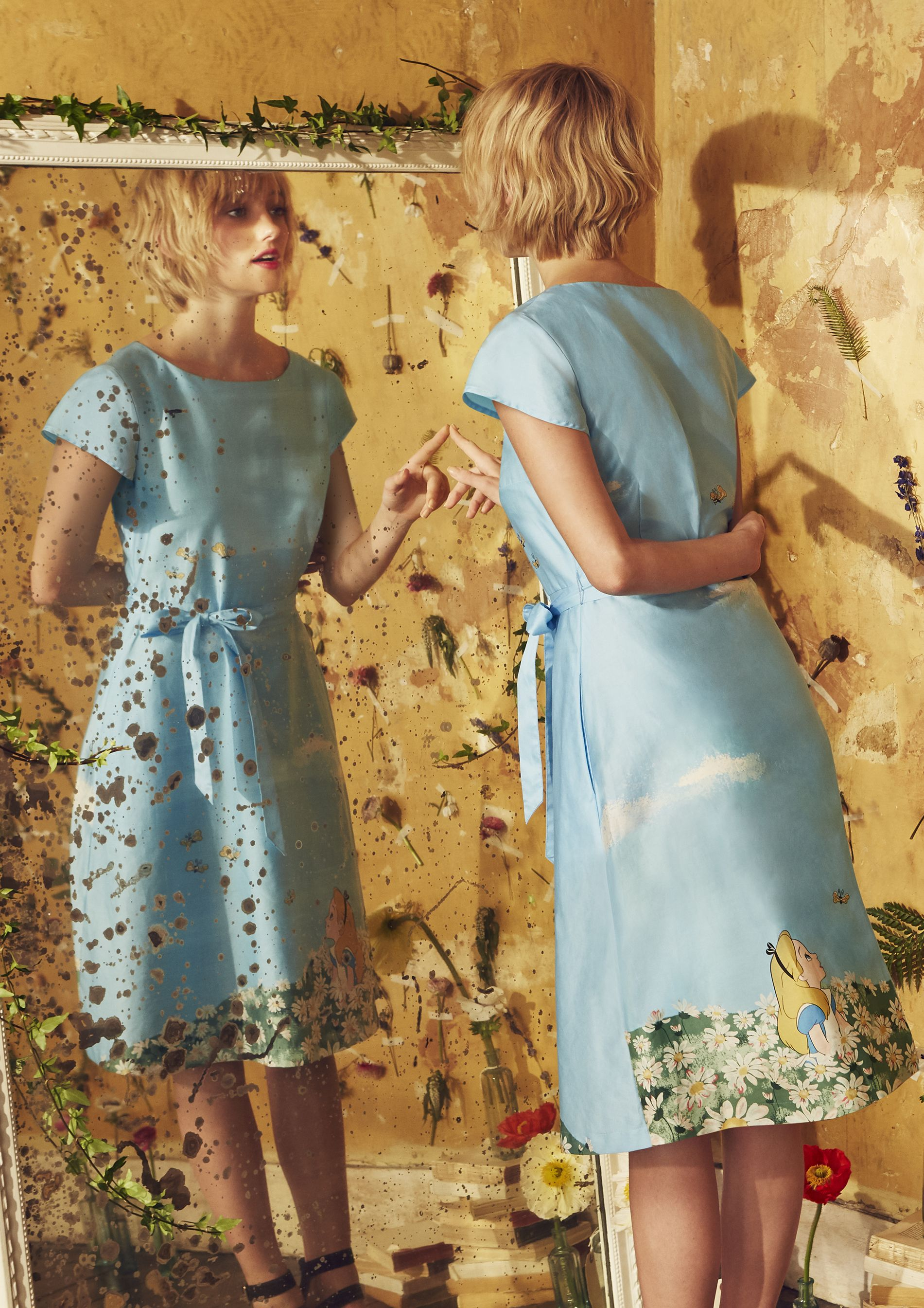 Limited edition Alice in Wonderland collection inspired by the Disney film.  Alice's Meadow print features Alice in Wonderland amongst the daisy flowers  with ...