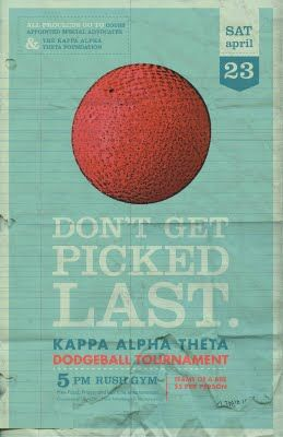 Dodgeball poster | Inspiration | Sorority socials ...