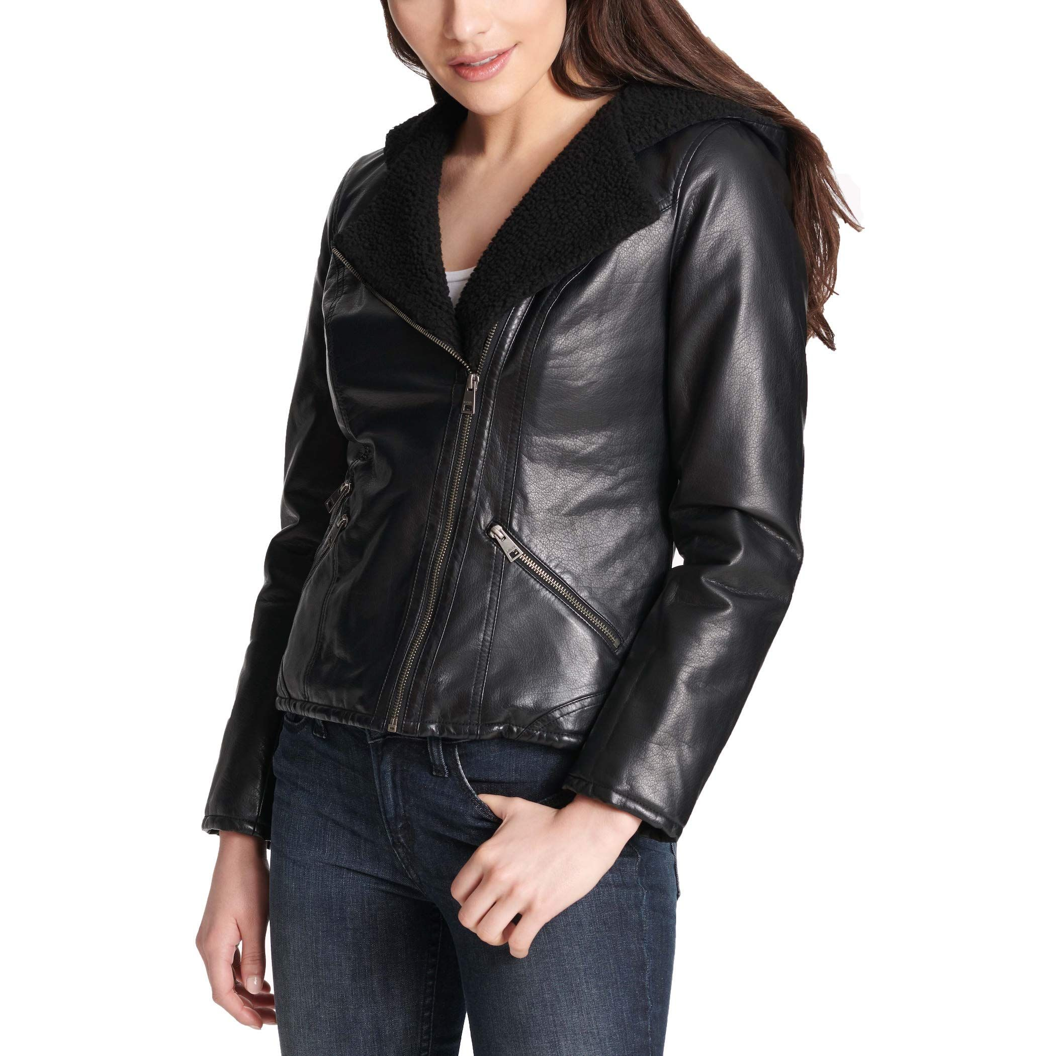 Levi's Women's Assymetrical SherpaLined FauxFur Jacket