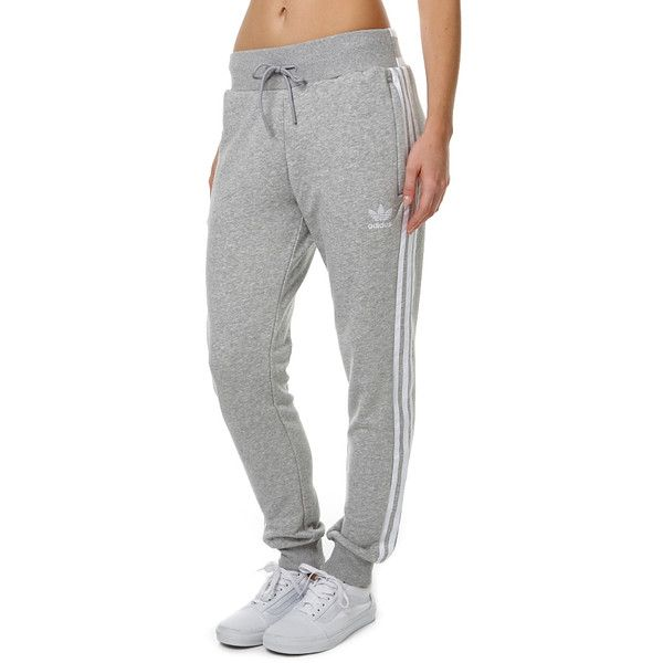 495d10fd64b9 Adidas Originals Regular Cuffed Womens Trackpant Grey ( 76) ❤ liked on  Polyvore featuring activewear
