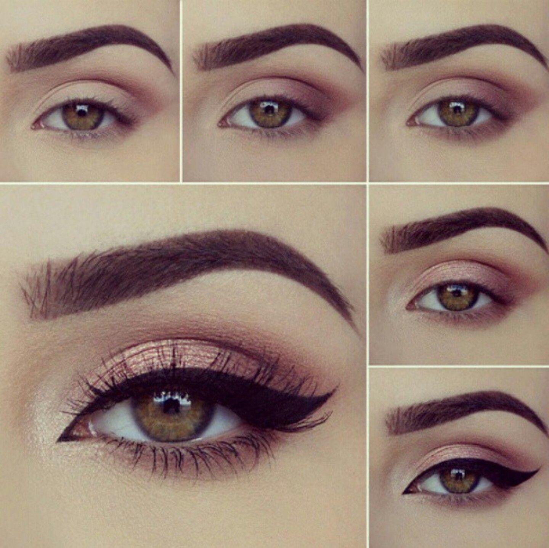 pasos para maquillaje de ojos marrones