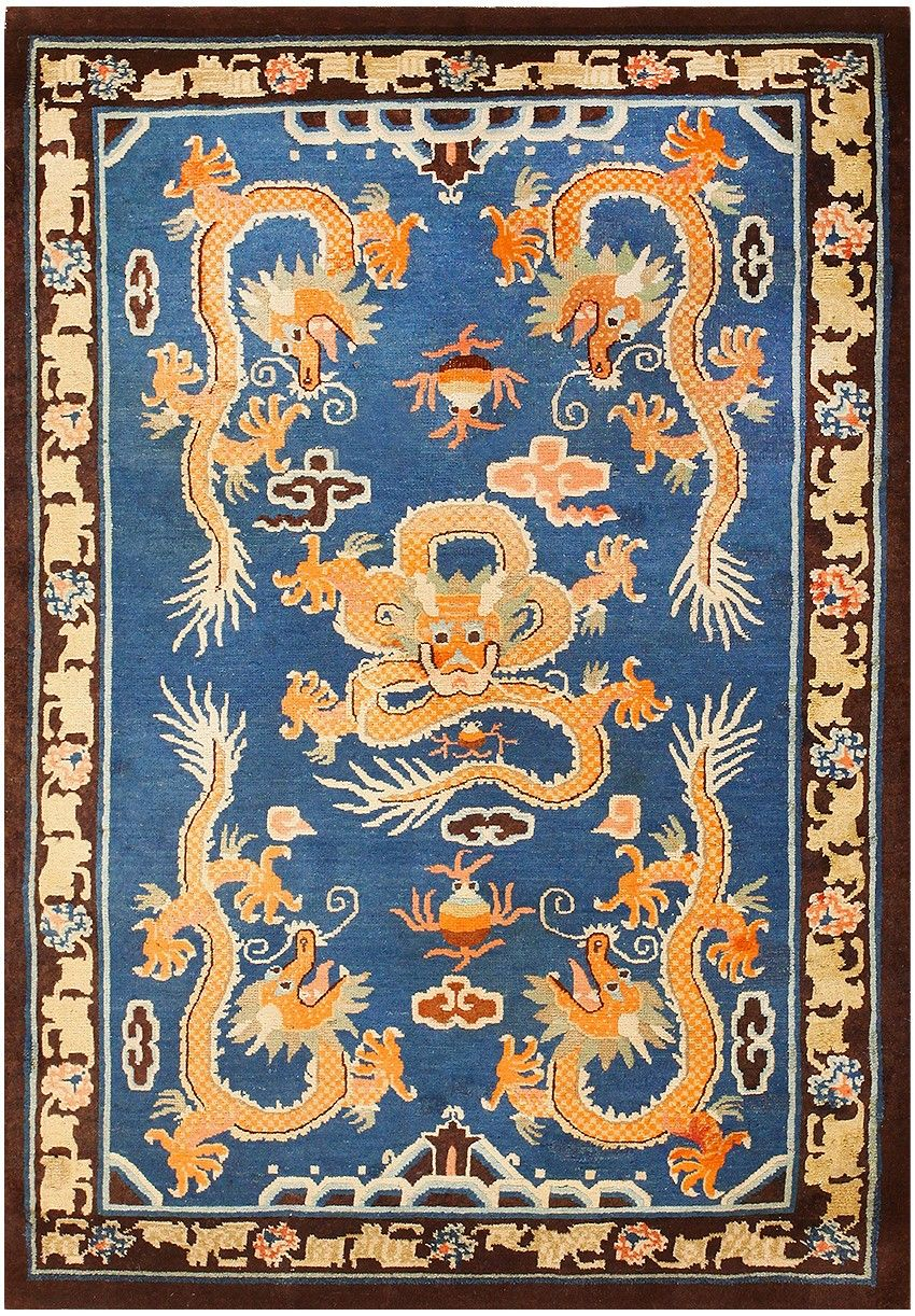 Antique Chinese Dragon Area Rug 48069 By Alfombras