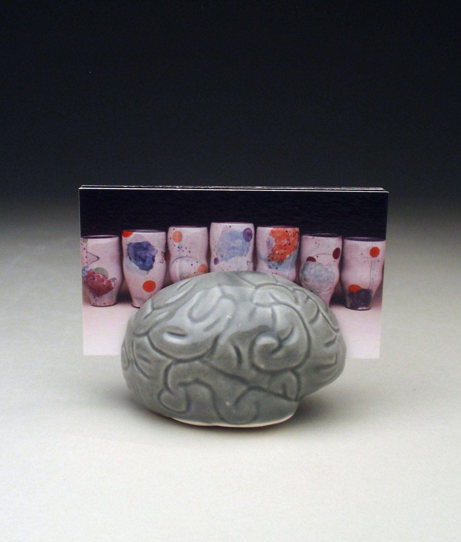 Gray brain business card holder psychology biology geek nerd gray brain business card holder psychology biology geek nerd geekery colourmoves