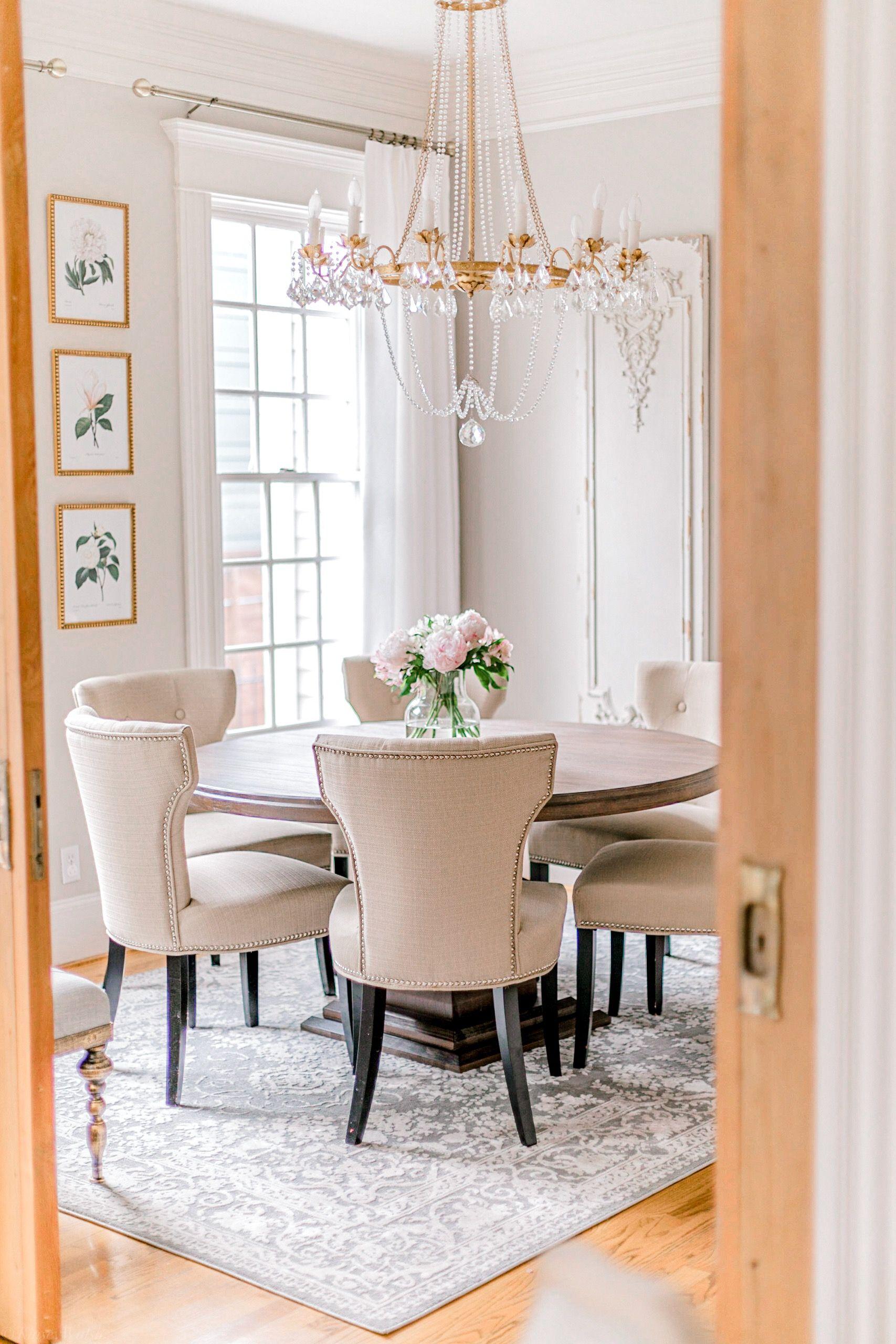 Instagram Roundup June 2019 Kinsey Walsh Beige Dining Room Gold Dining Room Dining Room Rug