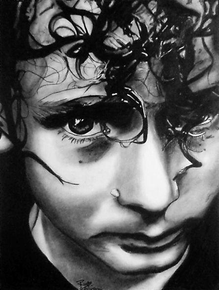 """Jim"" ~ charcoal on paper ~ 30""x24"" ~ 2008 ~ www.rupeshpatric.com"