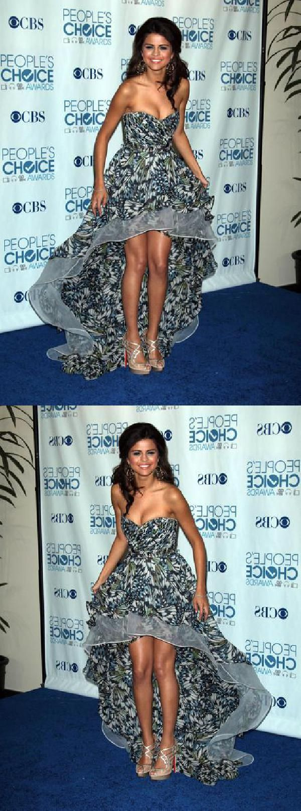 Selena gomez strapless mullet dress handsewn peopleus choice