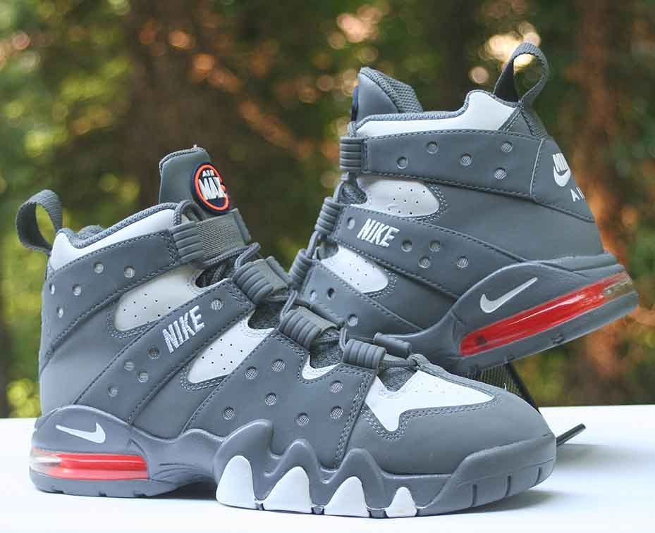 timeless design 961c9 4dc87 Nike Air Max2 CB  94 Charles Barkley Cool Grey White 305440-005 Men s Size  8  Nike  BasketballShoes