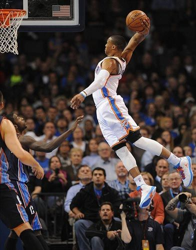 Westbrook is on a tear! He's either going to bring home the Finals trophy or break something trying. >    http://www.thebestbasketballblog.com/oklahoma-city-thunder-doing-ok-after-harden-trade.html
